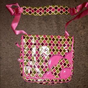 Vera Bradley vinyl messenger bag
